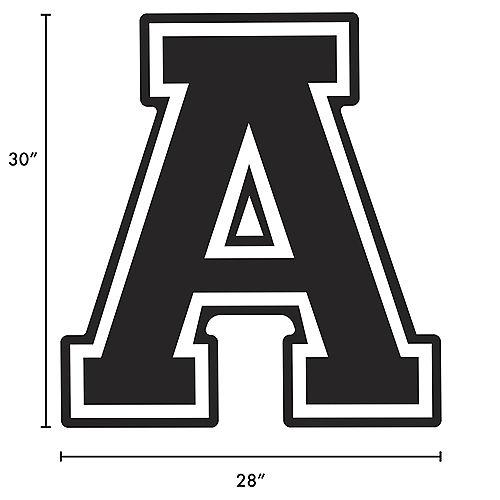Black Collegiate Letter (A) Plastic Yard Sign, 30in Image #2
