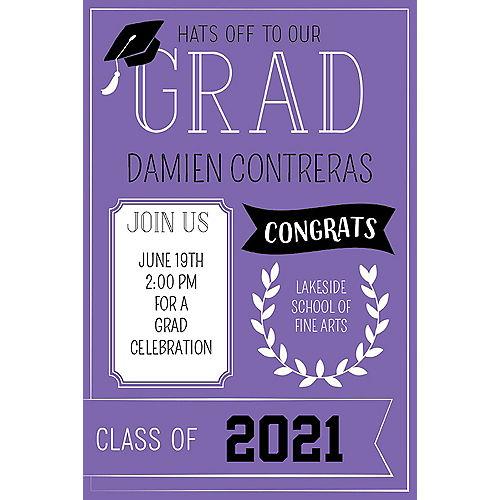 Custom Purple Graduation Invitations Image #1