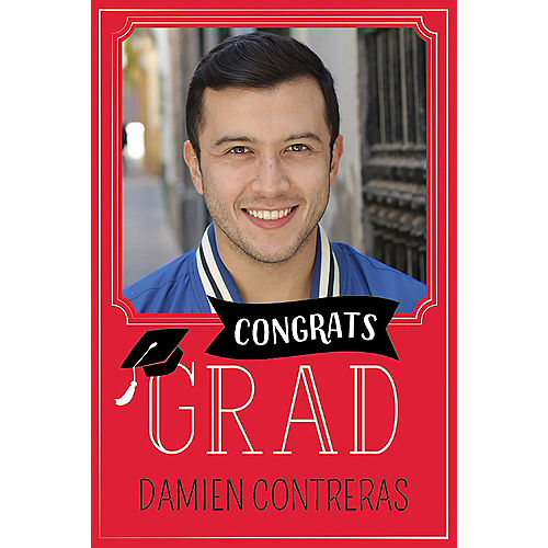 Custom Red Graduation Photo Announcements Image #1