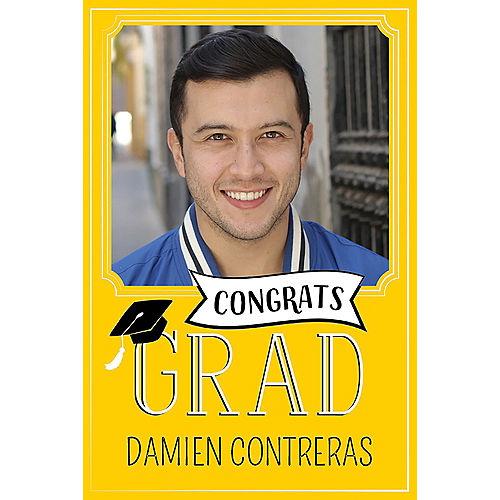 Custom Yellow Graduation Photo Announcements Image #1