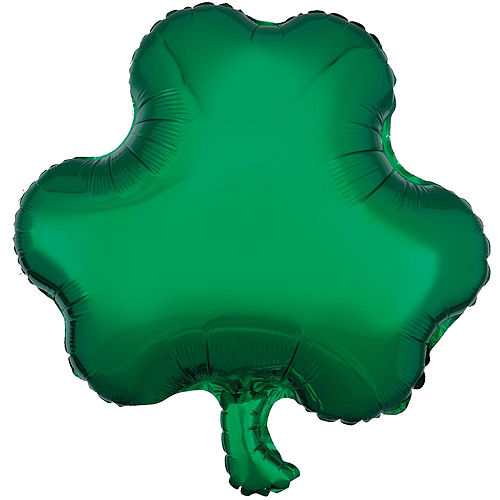 12pc Shamrock Foil Balloon Bouquet with Pot o' Beads - St. Patrick's Day Image #3