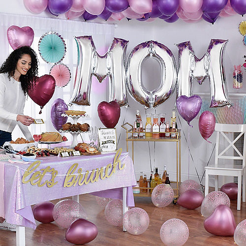 DIY Deluxe Pink, Lavender & Silver Mother's Day Balloon Room Decorating Kit, 66pc Image #2