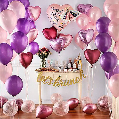 DIY Grand Pink & Lavender Mother's Day Balloon Room Decorating Kit, 53pc Image #1