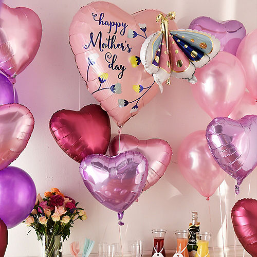 DIY Grand Pink & Lavender Mother's Day Balloon Room Decorating Kit, 53pc Image #2