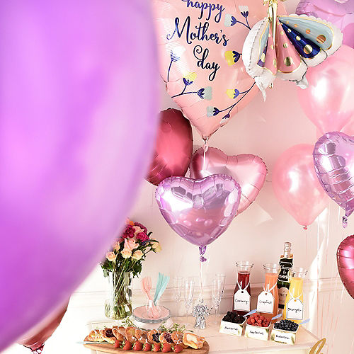DIY Grand Pink & Lavender Mother's Day Balloon Room Decorating Kit, 53pc Image #3