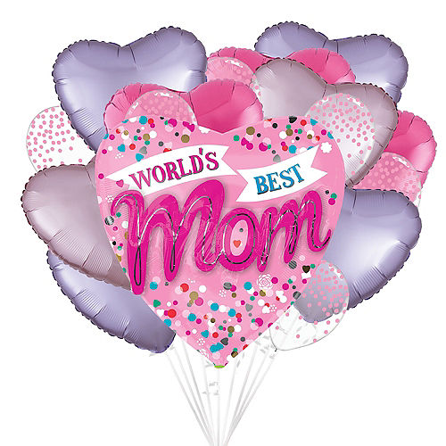 DIY Pink & Lavender Mother's Day Balloon Room Decorating Kit, 16pc Image #1
