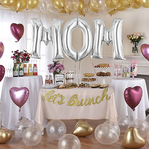 DIY Deluxe Pink, Gold & Silver Mother's Day Balloon Room Decorating Kit, 63pc Image #1
