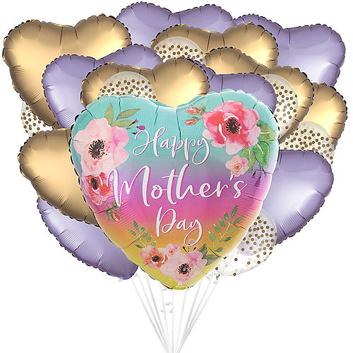 DIY Pink & Gold Mother's Day Balloon Room Decorating Kit, 19pc Image #1
