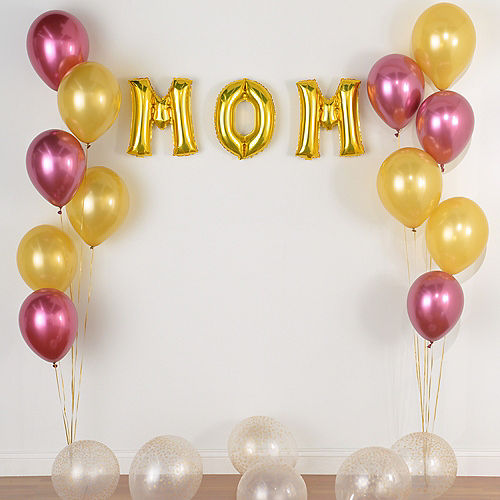 DIY Gold & Pomegranate Balloon Room Decorating Kit, 21pc Image #3