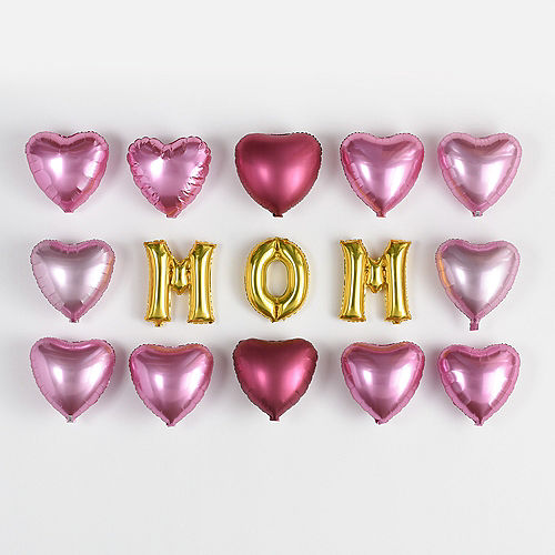 Nav Item for DIY Air-Filled Pink & Gold Mom Balloon Wall Kit, 15pc Image #1