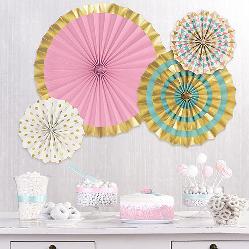 DIY Air-Filled Gold & Pastel Number 1 Mom Balloon Phrase Banner Kit, 13in Letters, 10pc Image #7