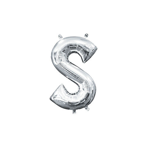 Air-Filled Silver & Blue Best Dad Foil Balloon Phrase Banner Kit, 13in Letters, 13pc Image #6