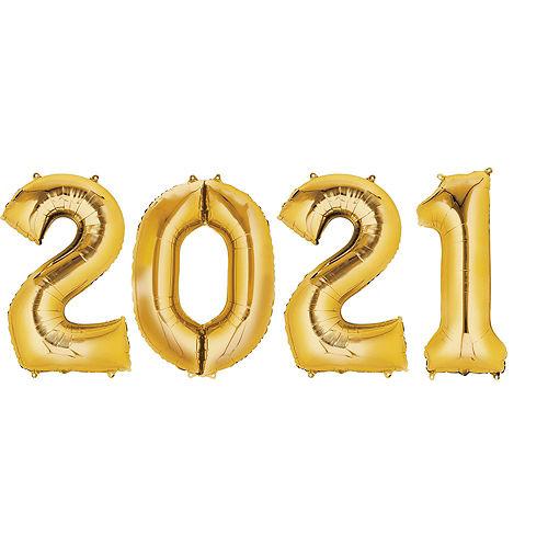 DIY Blue & Gold Graduation Balloon Backdrop Kit, 33pc Image #3