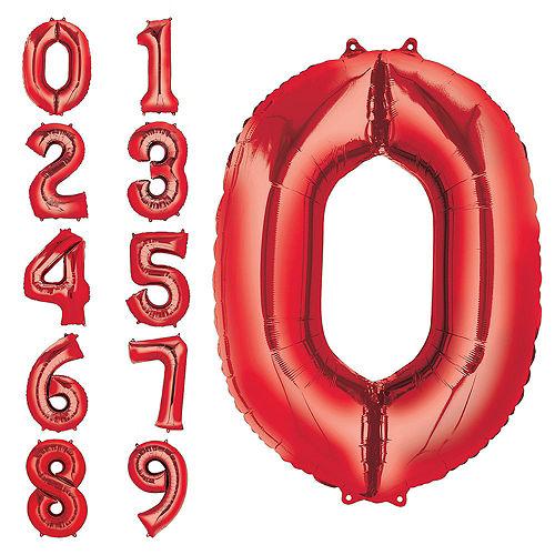 DIY Blue & Red Graduation Balloon Backdrop Kit, 33pc Image #4