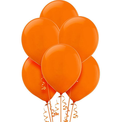DIY Blue & Orange Graduation Balloon Backdrop Kit, 33pc Image #2
