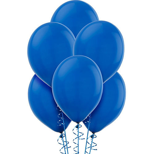 DIY Blue & Silver Graduation Balloon Backdrop Kit, 33pc Image #2