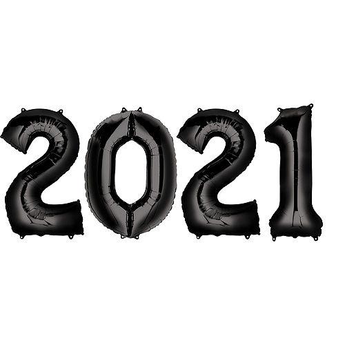 DIY Black, Silver & Gold Graduation Balloon Backdrop Kit, 33pc Image #3