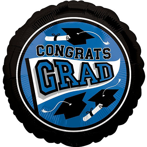DIY Blue Graduation Balloon Backdrop Kit, 33pc Image #3
