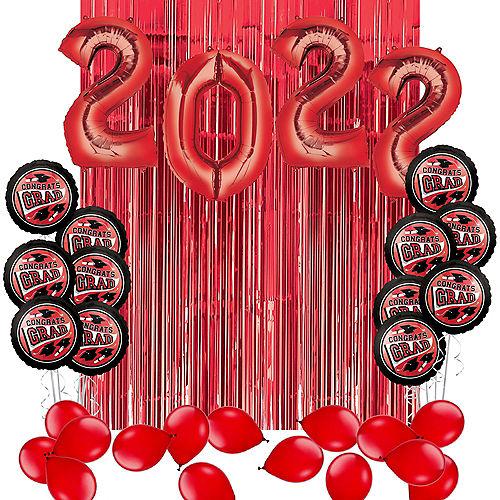 DIY Red Graduation Balloon Backdrop Kit, 33pc Image #1