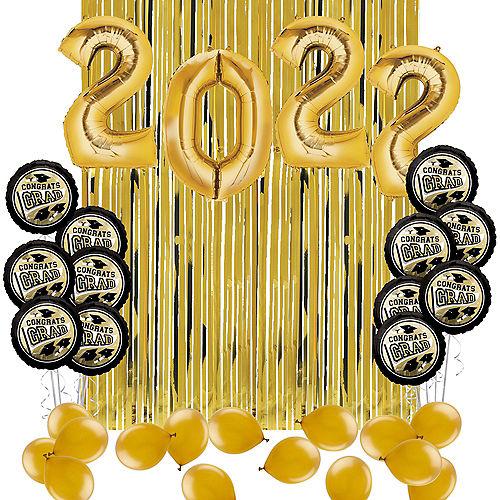 DIY Gold Graduation Balloon Backdrop Kit, 33pc Image #1