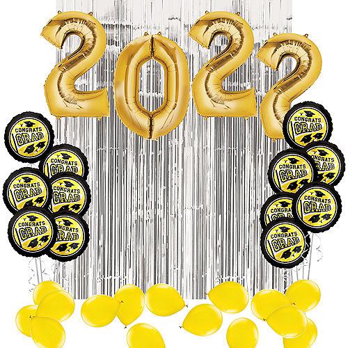 DIY Yellow Graduation Balloon Backdrop Kit, 33pc Image #1