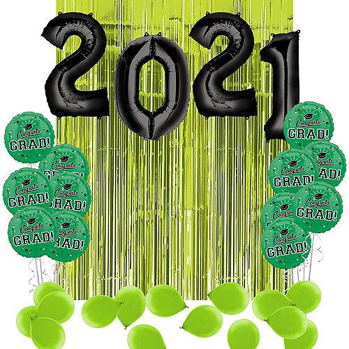 DIY Green Graduation Balloon Backdrop Kit, 33pc Image #1