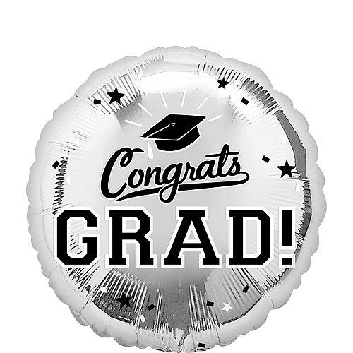 DIY Silver Graduation Balloon Backdrop Kit, 33pc Image #5