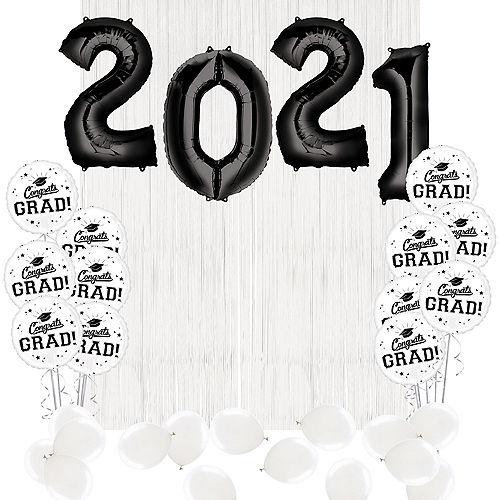 DIY White Graduation Balloon Backdrop Kit, 33pc Image #1
