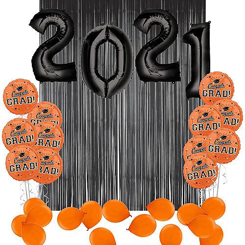 DIY Orange Graduation Balloon Backdrop Kit, 33pc Image #1