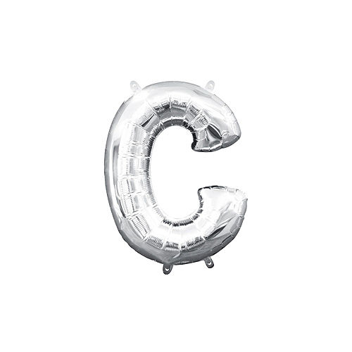 DIY Air-Filled Silver Congrads Balloon Phrase Banner, 13in Letters, 8pc Image #4