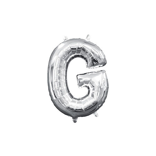 DIY Air-Filled Silver Congrads Balloon Phrase Banner, 13in Letters, 8pc Image #6
