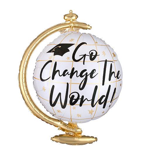 Change the World Balloon Bouquet & Teddy Bear Graduation Gift Kit, 7pc Image #5