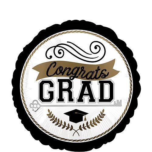 Congrats Grad Cap Balloon Bouquet & Autograph Dog Plush Graduation Gift Kit, 6pc Image #5