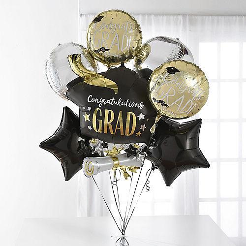 Change the World Graduation Deluxe Balloon Bouquet, 7pc Image #1