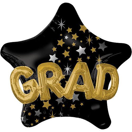 Congrats Grad Cap Deluxe Balloon Bouquet, 7pc Image #5