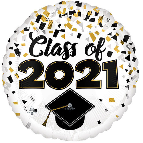 Class of 2021 Star Graduation Deluxe Balloon Bouquet, 8pc Image #5
