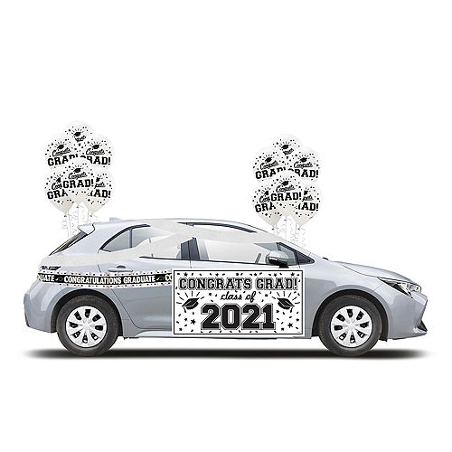 2021 White Drive-By Graduation Kit Image #1