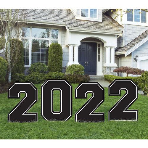 Black & White 2021 Graduation Balloon & Yard Sign Kit, 16pc Image #2