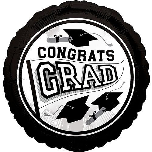 Black & White 2021 Graduation Balloon & Yard Sign Kit, 16pc Image #3