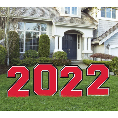 Red 2021 Graduation Balloon & Yard Sign Kit, 16pc Image #2
