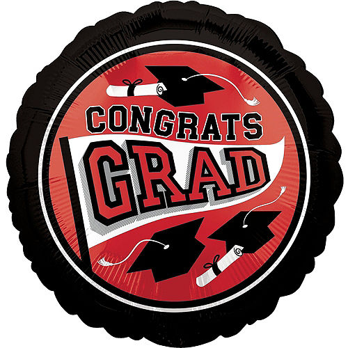 Red 2021 Graduation Balloon & Yard Sign Kit, 16pc Image #3