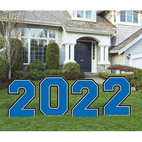 Blue 2021 Graduation Balloon & Yard Sign Kit, 16pc Image #2