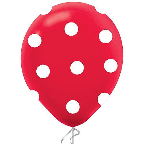 Red Polka Dot Latex Balloon, 12in, 1ct Image #1