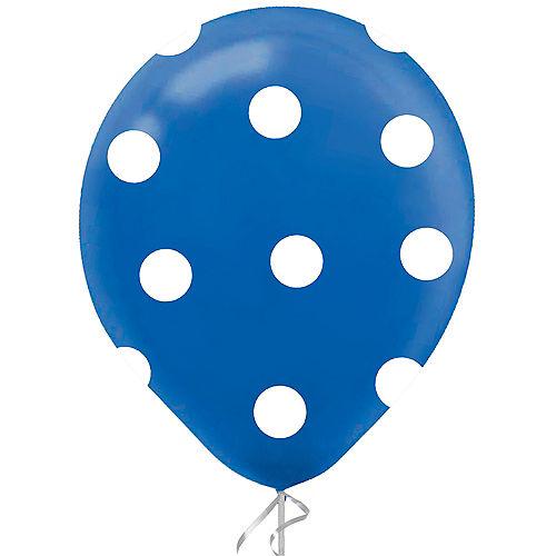 Royal Blue Polka Dot Latex Balloon, 12in, 1ct Image #1