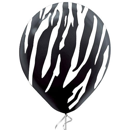 Black & White Zebra Latex Balloon, 12in, 1ct Image #1