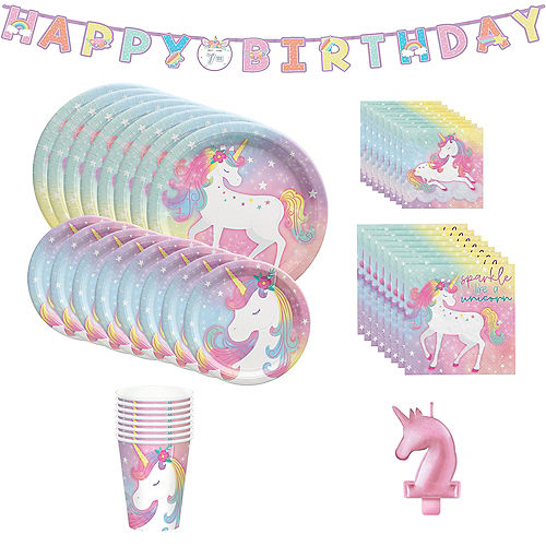 Enchanted Unicorn Party Kit for 8 Guests Image #1