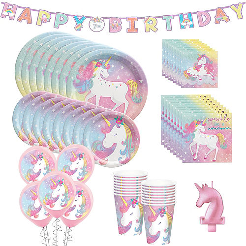 Enchanted Unicorn Party Kit for 16 Guests Image #1
