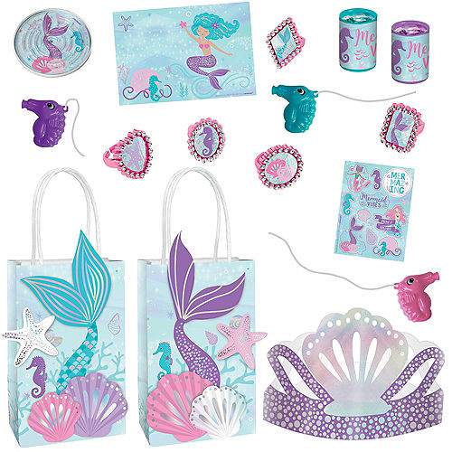 Shimmering Mermaids Birthday Party Favor Kit for 8 Guests Image #1
