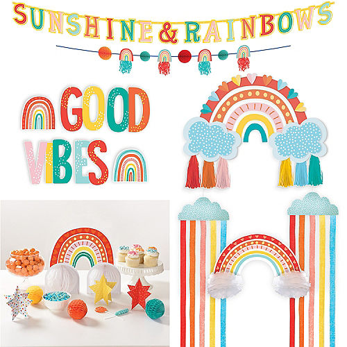 Retro Rainbow Decorating Kit Image #1