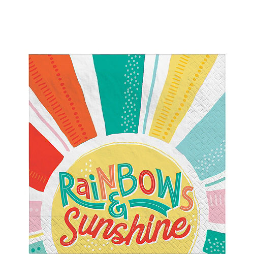 Retro Rainbow Tableware Kit for 16 Guests Image #5